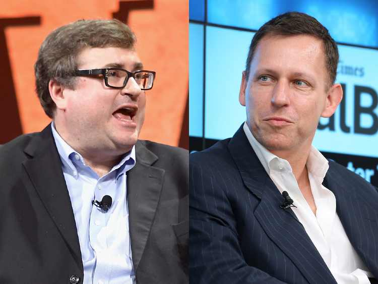 Peter Thiel and Reid Hoffman